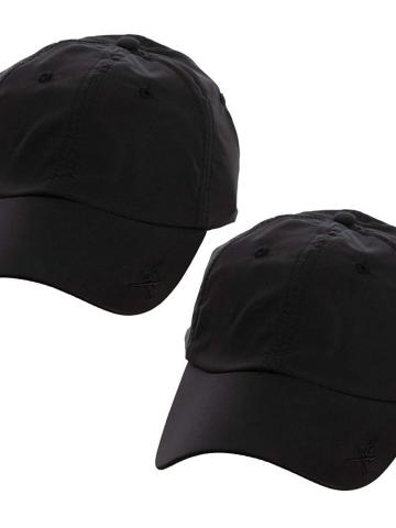 2-Pack: Kombi Xcap Hats with Retractable Sunglass Holder / Black