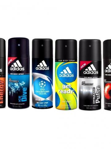 6-Pack: Adidas Deodorant 24h Fresh Power Men Body Spray