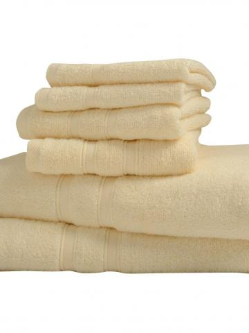6-Piece: Bibb Home Zero Twist Egyptian Cotton Towel Set / Ivory