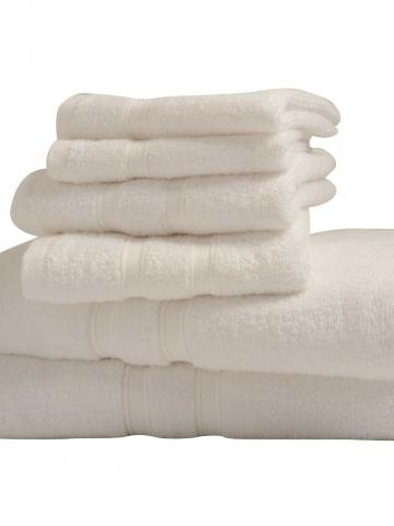 6-Piece: Bibb Home Zero Twist Egyptian Cotton Towel Set / White