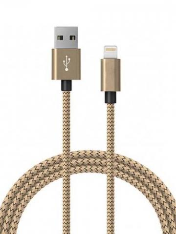 6ft MFI Certified Lightning Charging Cable for iPhone / Gold