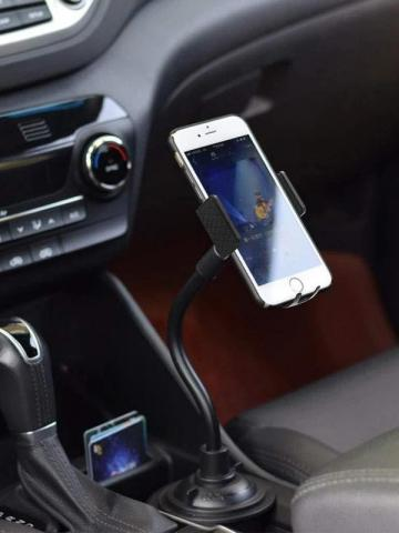 Car Cup Holder Phone Mount Adjustable Gooseneck Phone Stand