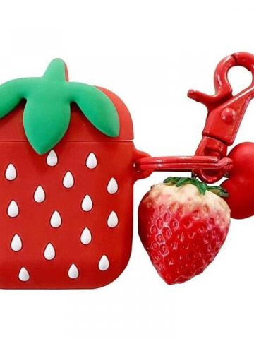 Compatible Fruity AirPods Cute Case Cover / Strawberry