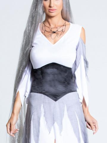Haunting Long Gray Wig by Fever, Grey - Yandy.com