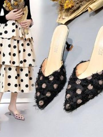High Heel Pointy Mules