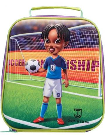 JCT Kids' 3D Insulated Lunch Bag / Soccer