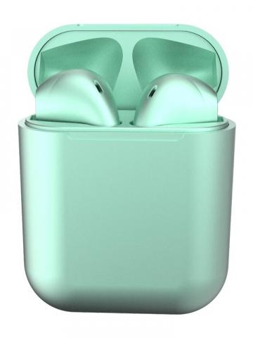 Metal Inpods TWS Mini Wireless Bluetooth Earphones / Light Green