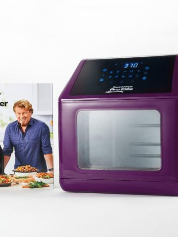 Power Air Fryer 10-in-1 Pro Oven 6-qt with Cookbook / Purple