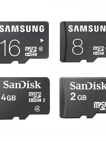 Sandisk or Samsung microSD Memory Card Adapter Included - Assorted Sizes / 8GB