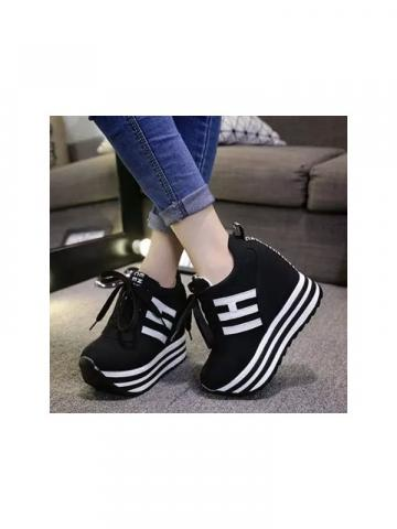 Shoespie Platform Stripes Sneaker