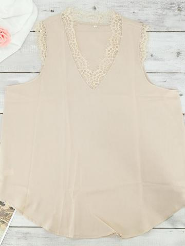 Women's Lace Tank Top / Beige / Small
