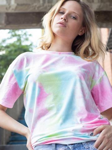 Women's Tie Dye T-Shirt / Pink / Medium